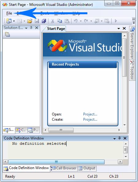 visual studio application tutorial c++