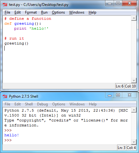 how to create a python file in windows
